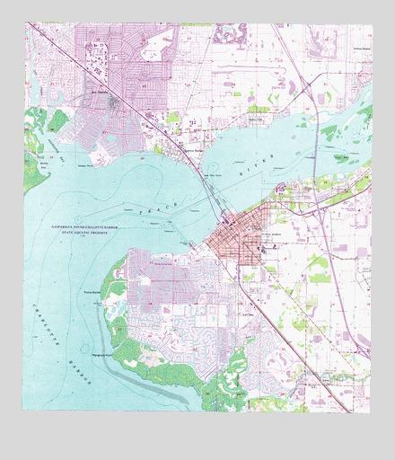Map Of Punta Gorda Florida.Punta Gorda Fl Topographic Map Topoquest