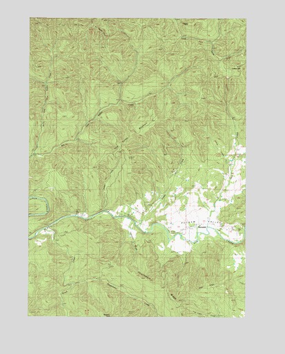 Putnam Valley, OR USGS Topographic Map