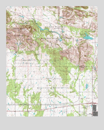 Mountains In Oklahoma Map.Quanah Mountain Ok Topographic Map Topoquest