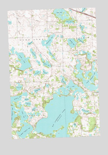 Big Cormorant Lake, MN USGS Topographic Map