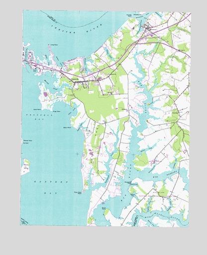 Queenstown, MD Topographic Map - TopoQuest