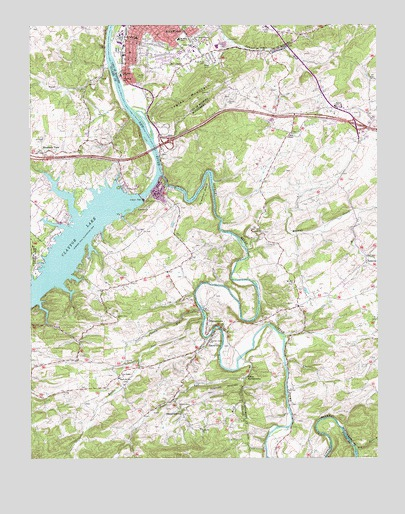Radford South Va Topographic Map Topoquest