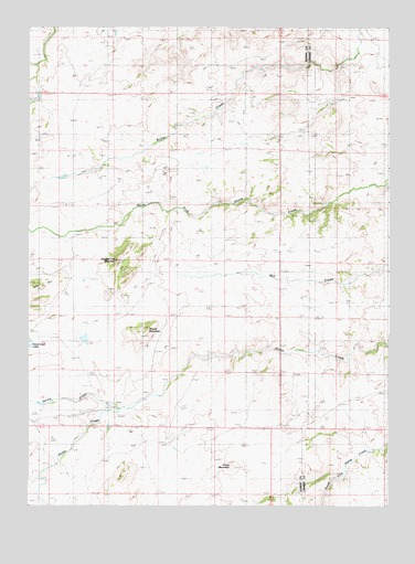 Ragged Top Mountain, WY USGS Topographic Map