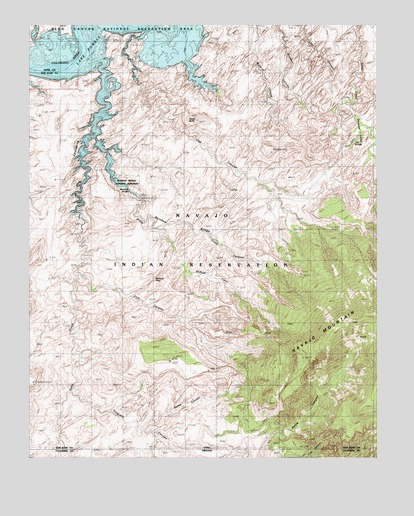 Rainbow Bridge UT Topographic Map  TopoQuest