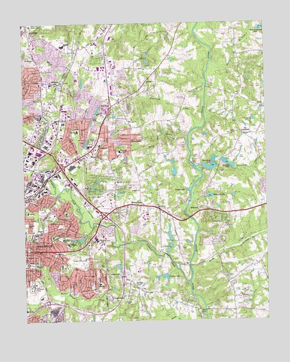Raleigh East, NC Topographic Map - TopoQuest