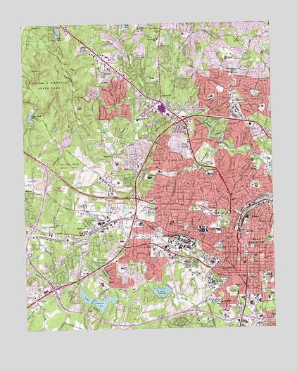 Raleigh West, NC Topographic Map - TopoQuest