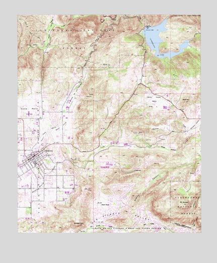 Ramona CA Topographic Map TopoQuest - California map ramona