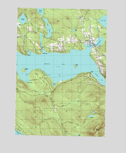 Topo Map Of Maine.Rangeley Me Topographic Map Topoquest