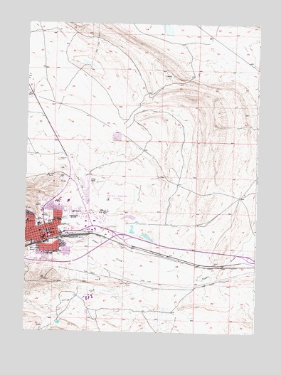 Rawlins WY Topographic Map  TopoQuest