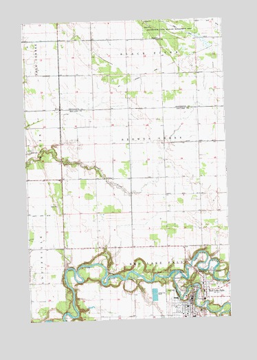 Red Lake Minnesota Map.Red Lake Falls Mn Topographic Map Topoquest