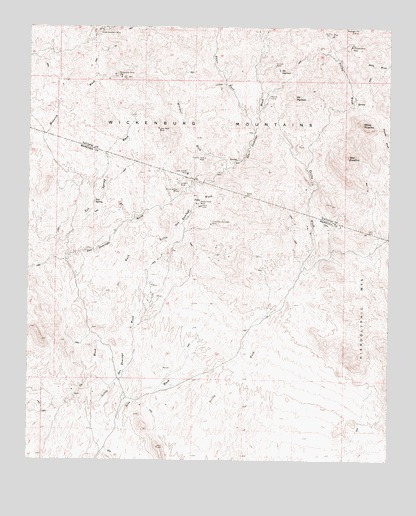 Red Picacho, AZ USGS Topographic Map