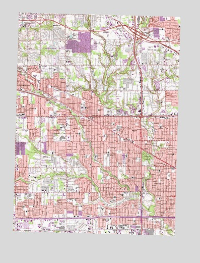 Redford Mi Topographic Map Topoquest