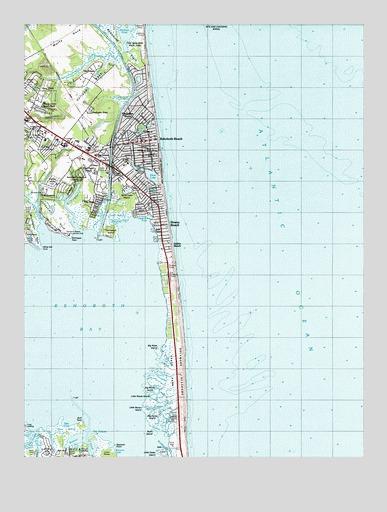 Rehoboth Beach De Usgs Topographic Map