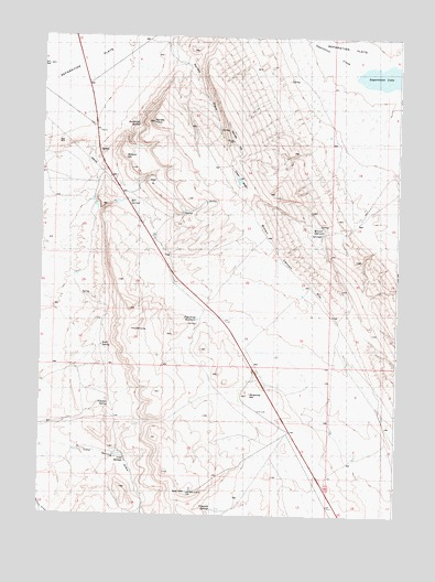 Rendle Hill, WY USGS Topographic Map