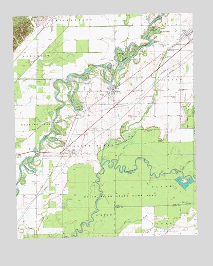 Reyno, AR USGS Topographic Map