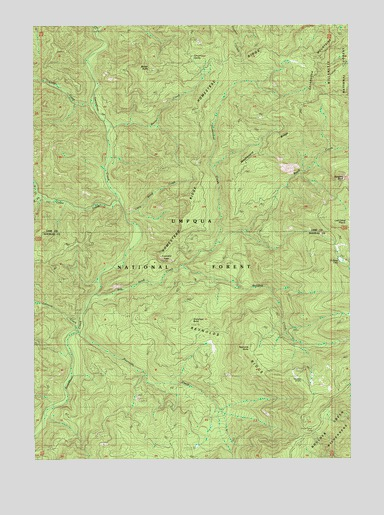 Reynolds Ridge, OR USGS Topographic Map