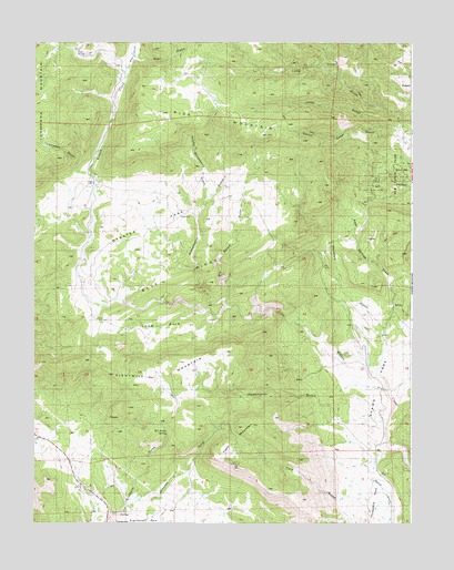 Rice Mountain, CO USGS Topographic Map