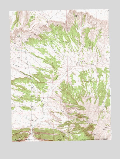 Richards Gap, WY USGS Topographic Map