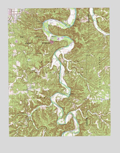 Big Piney, MO USGS Topographic Map