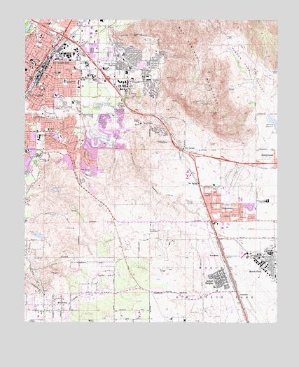 Riverside East, CA Topographic Map - TopoQuest