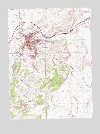 Rock Springs Wyoming Map.Rock Springs Wy Topographic Map Topoquest