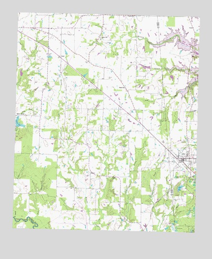Alba, TX USGS Topographic Map