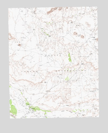 Round Rock, AZ USGS Topographic Map