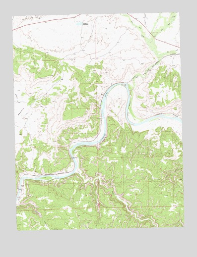 Ruby Canyon, CO USGS Topographic Map