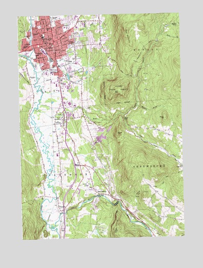 Rutland, VT Topographic Map - TopoQuest