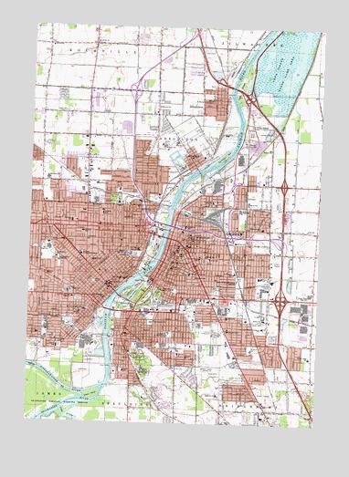 Saginaw Mi Topographic Map Topoquest