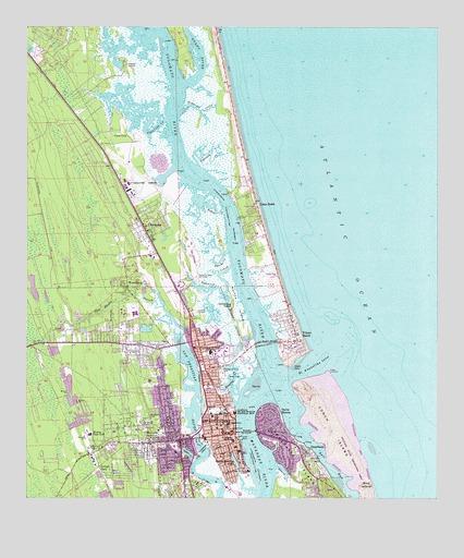 Saint Augustine FL Topographic Map TopoQuest - Florida topographic map