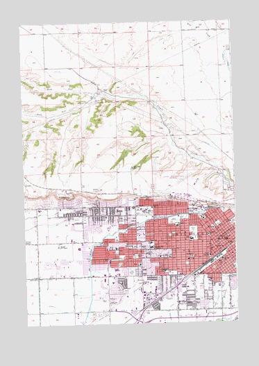 Billings West, MT Topographic Map - TopoQuest