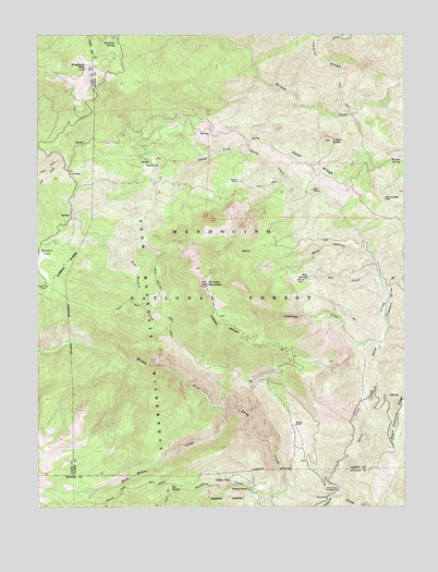 Saint John Mountain, CA USGS Topographic Map