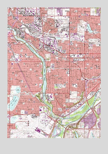 Saint Paul West, MN Topographic Map - TopoQuest