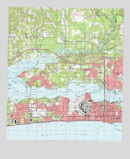 Biloxi Ms Topographic Map Topoquest