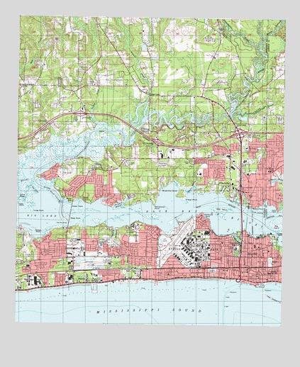Biloxi Ms Topographic Map Topoquest