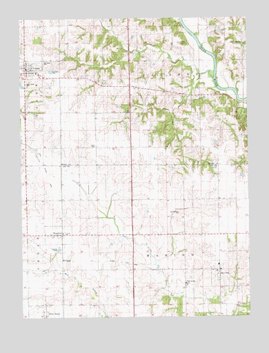 Salem, IA USGS Topographic Map