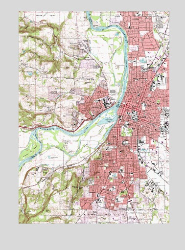 Salem West, OR Topographic Map - TopoQuest