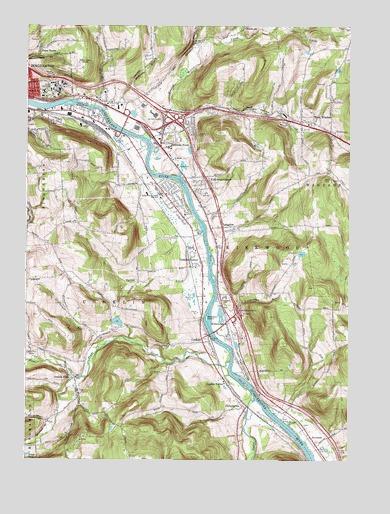 Binghamton East, NY Topographic Map - TopoQuest