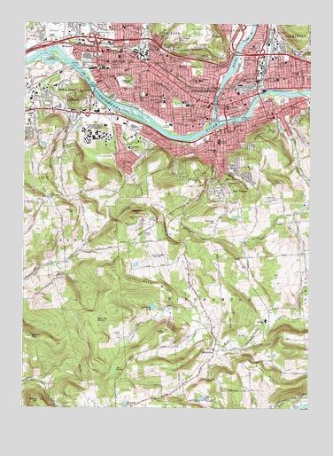 Binghamton West, NY Topographic Map - TopoQuest