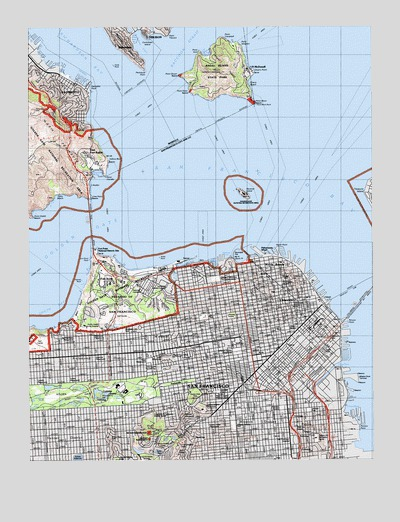 San Francisco North, CA Topographic Map - TopoQuest