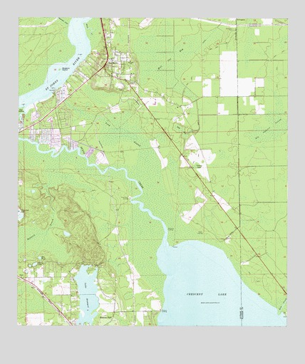 Topographical Map Of Florida.San Mateo Fl Topographic Map Topoquest