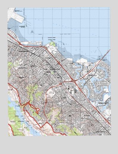 San Mateo, CA Topographic Map - TopoQuest on belmont ca map, san lorenzo valley ca map, seascape ca map, sawyers bar ca map, hacienda ca map, fort tejon ca map, n hollywood ca map, pasadena ca map, fort yuma ca map, lake ca map, tucson ca map, roseville ca map, los altos ca map, puente hills ca map, rio del mar ca map, chicago ca map, solano beach ca map, fresno ca map, skyline college ca map, palo alto ca map,