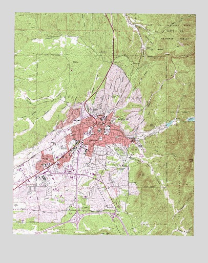 Topographic Map Of Santa Fe Nm Tidal Treasures - Topographical map of new mexico