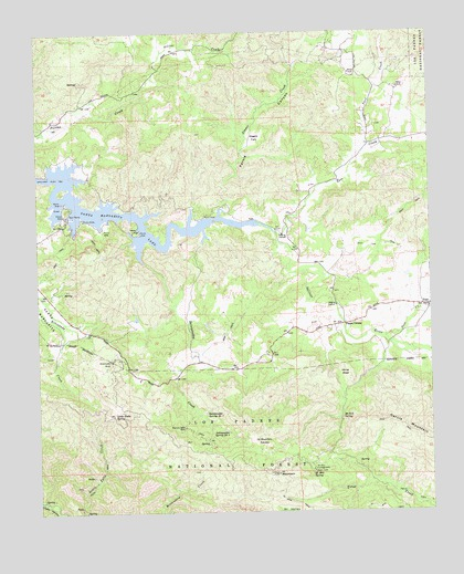 Santa Margarita Lake, CA USGS Topographic Map