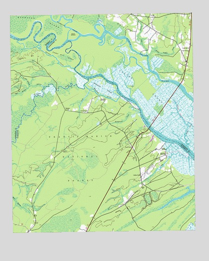 South Santee, SC Topographic Map - TopoQuest