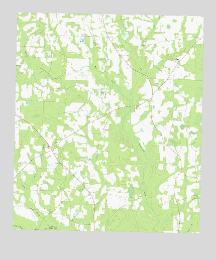 Sapps Lake, GA USGS Topographic Map