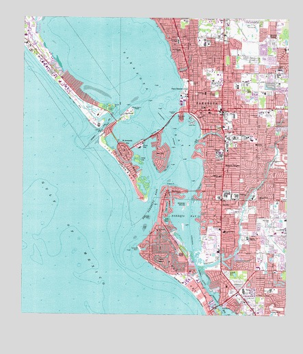 Sarasota, FL Topographic Map - TopoQuest