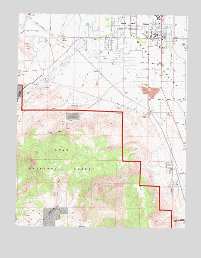 Bishop, CA USGS Topographic Map