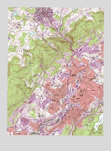 Scranton Pa Topographic Map Topoquest